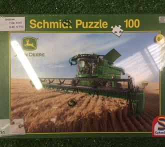 Puzzle 100 pièces JOHN DEERE moissonneuse