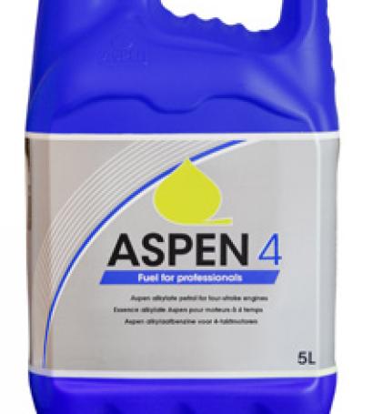 Bidon de 5L d'essence ALKYLATE 4 TEMPS - ASPEN - Prêt à l'emploi