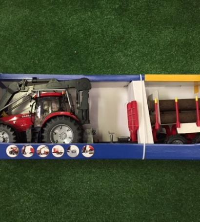 Tracteur CASE IH PUMA + Remorque forestière
